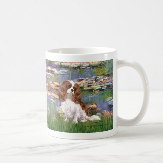 Cavalier 2 (bl) - Lilies 2 Coffee Mug