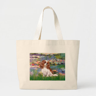 Cavalier 2 (bl) - Lilies 2 Large Tote Bag