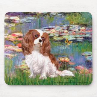 Cavalier 2 (bl) - Lilies 2 Mouse Pad