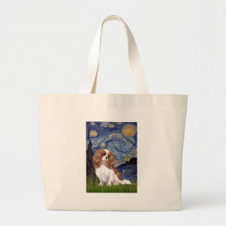 Cavalier 2 (Bl) - Starry Night Large Tote Bag