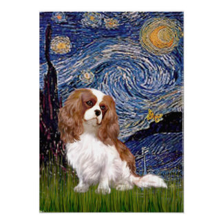 Cavalier 2 (Bl) - Starry Night Poster