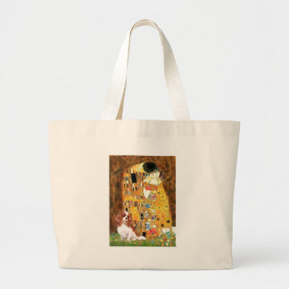 Cavalier 2 (Bl) - The Kiss Large Tote Bag