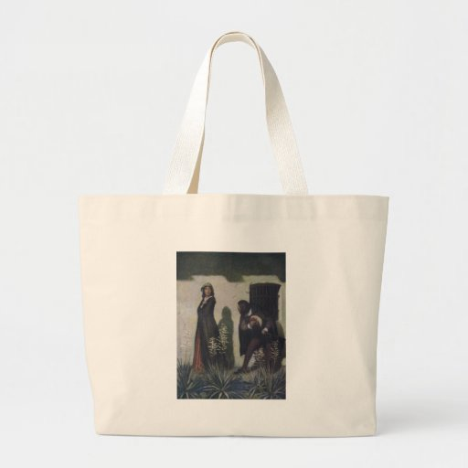 Cavalier Bowing to Woman Large Tote Bag