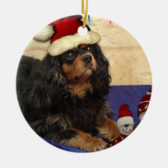 Cavalier Christmas Ceramic Ornament
