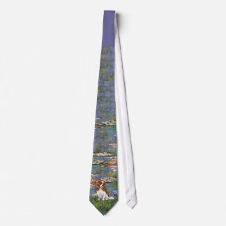 Cavalier King Charles (Blenheim) - Lilies 2 Neck Tie
