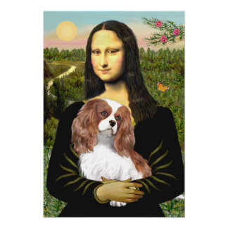 Cavalier King Charles (Blenheim) - Mona Lisa Poster