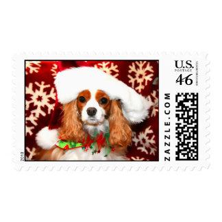 Cavalier King Charles Christmas Love Postage Stamp