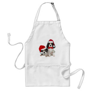 Cavalier King Charles Christmas Naughty or Nice Adult Apron