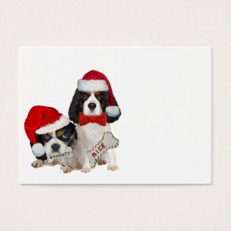 Cavalier King Charles Christmas Naughty or Nice Business Card