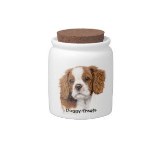 Cavalier King charles Doggy Biscuit Jar Candy Dish