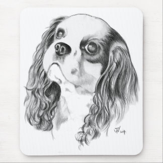 Cavalier King Charles Drawing Mouse Pad