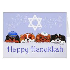 Cavalier King Charles Happy Hanukkah Card at Zazzle