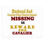 Cavalier King Charles  & Husband Missing Reward Fo Post Cards