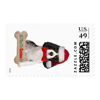 Cavalier King Charles Kisses For Christmas Postage