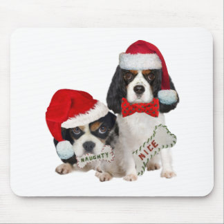 Cavalier King Charles Naughty or Nice gifts Mouse Pad