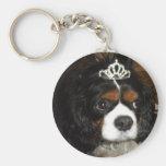 cavalier king charles princess key chain