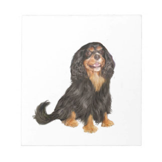 Cavalier King Charles (R) - Black and tan.png Notepad