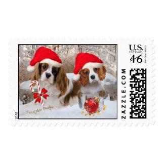 Cavalier King Charles Snow Scene Postage Stamps