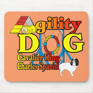Cavalier_King_Charles_Spaniel_Agility Mouse Pad