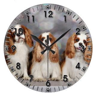 Cavalier King Charles Spaniel - Avery Maddy Zoe Large Clock