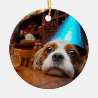 Cavalier King Charles Spaniel Birthday Ornament