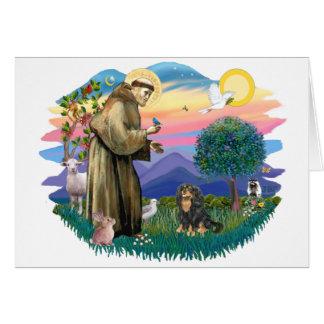 Cavalier King Charles Spaniel  (black and tan) Card