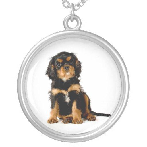 Cavalier King Charles Spaniel Black & Tan Necklace
