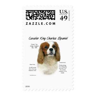 Cavalier King Charles Spaniel (Blenheim) History Postage Stamp
