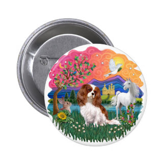 Cavalier King Charles Spaniel (Blenheim) Pinback Button
