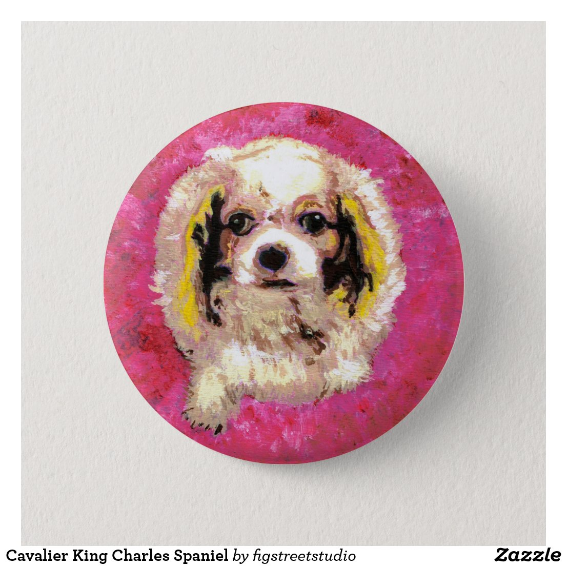 Cavalier King Charles Spaniel Button
