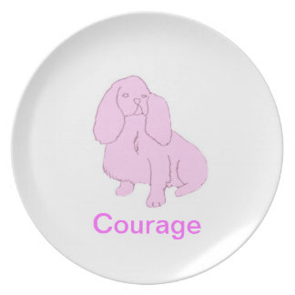 Cavalier King Charles Spaniel Cancer Awareness Pla Melamine Plate