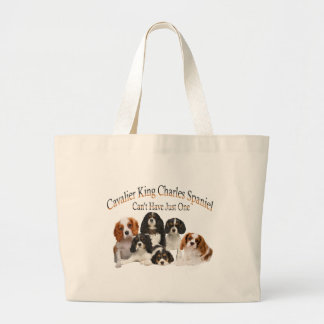 Cavalier King Charles Spaniel Can't Have Just One Canvas Bag