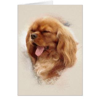 Cavalier King Charles Spaniel Greeting Card
