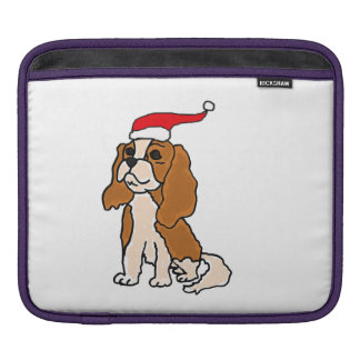Cavalier King Charles Spaniel Christmas Art Sleeve For iPads