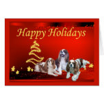Cavalier King Charles Spaniel Christmas Card Stars