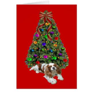Cavalier King Charles Spaniel Christmas Card Tree