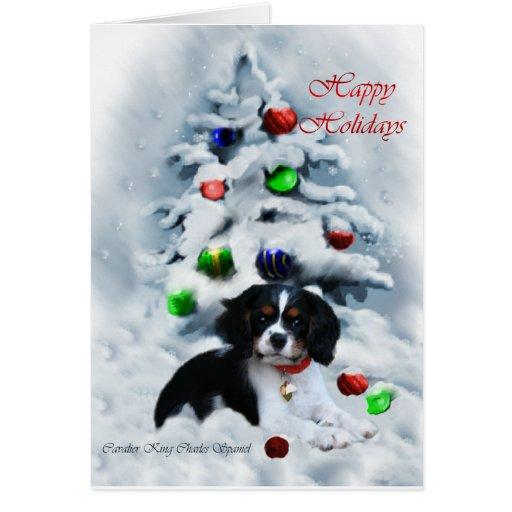 Cavalier King Charles Spaniel Christmas Card Red Zazzle