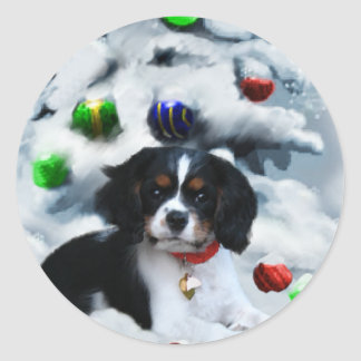 Cavalier King Charles Spaniel  Christmas Gifts Classic Round Sticker