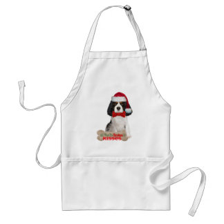 Cavalier King Charles Spaniel Christmas Kisses Adult Apron