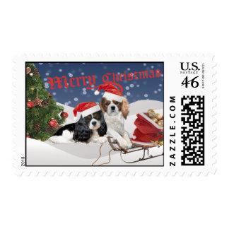 Cavalier King Charles Spaniel Christmas Postage
