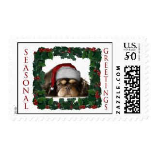 Cavalier King Charles Spaniel Cute Christmas Postage