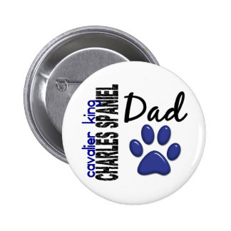 Cavalier King Charles Spaniel Dad 2 Pinback Button