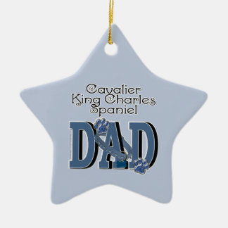 Cavalier King Charles Spaniel DAD Ceramic Ornament