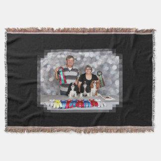 Cavalier King Charles Spaniel - Darlin DeeDee Tiff Throw Blanket
