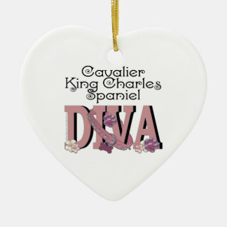 Cavalier King Charles Spaniel DIVA Ceramic Ornament