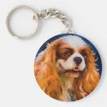 Cavalier King Charles Spaniel Dog Art - Chelsea Keychain