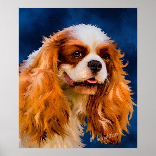 Cavalier King Charles Spaniel Dog Art - Chelsea Poster