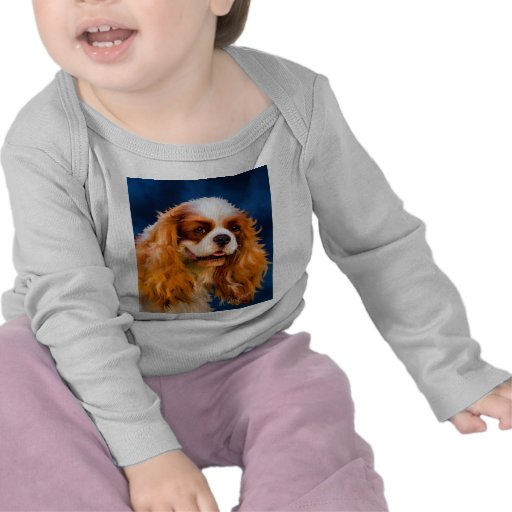 Cavalier King Charles Spaniel Dog Art - Chelsea Tee Shirts