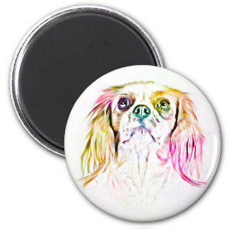 Cavalier King Charles Spaniel Dog Art Painting Magnet