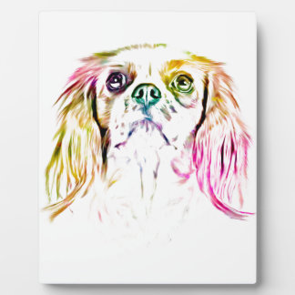 Cavalier King Charles Spaniel Dog Art Painting Plaque
